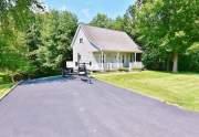Blacktopped driveway