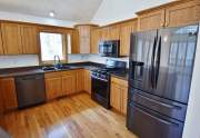 New, black stainless appliances