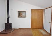 Entry with gas fireplace