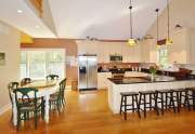 Kitchen with solid surface counters