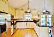 Ample cabinetry and prep space